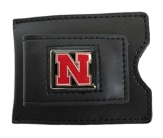 Iron N Leather Money Clip Card Case Nebraska Cornhuskers, Nebraska  Mens Accessories, Huskers  Mens Accessories, Nebraska  Mens, Huskers  Mens, Nebraska Black Leather Money Clip Card Case Aminco, Huskers Black Leather Money Clip Card Case Aminco