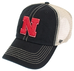 Iron N Trawler Clean Up Cap Nebraska Cornhuskers, Nebraska  Mens Hats, Huskers  Mens Hats, Nebraska  Mens Hats, Huskers  Mens Hats, Nebraska Black Mesh Trucker Trawler Clean Up, Huskers Black Mesh Trucker Trawler Clean Up