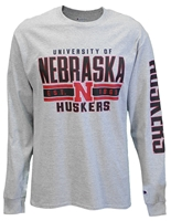 Jersey University of Nebraska Outline LS Tee Nebraska Cornhuskers, Nebraska  Mens T-Shirts, Huskers  Mens T-Shirts, Nebraska  Mens, Huskers  Mens, Nebraska  Long Sleeve, Huskers  Long Sleeve, Nebraska Gray LS Oxford Jersey Outline Champ Tee, Huskers Gray LS Oxford Jersey Outline Champ Tee
