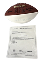 Johnny Unitas Autographed NFL Football Nebraska Cornhuskers, husker football, nebraska cornhuskers merchandise, husker merchandise, nebraska merchandise, husker memorabilia, husker autographed, nebraska cornhuskers autographed, nebraska cornhuskers memorabilia, nebraska cornhuskers collectible, Rodgers and Crouch Autographed Adidas Ball