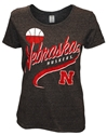 Ladies Black Retro Sweep Basketball Tee Nebraska Cornhuskers, Nebraska  Ladies T-Shirts, Huskers  Ladies T-Shirts, Nebraska  Basketball, Huskers  Basketball, Nebraska  Ladies, Huskers  Ladies, Nebraska  Short Sleeve, Huskers  Short Sleeve, Nebraska Ladies Black Retro Sweep Basketball Tee, Huskers Ladies Black Retro Sweep Basketball Tee