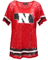 Ladies Husker State Lace Jersey Top Nebraska Cornhuskers, Nebraska  Ladies Tops, Huskers  Ladies Tops, Nebraska  Short Sleeve, Huskers  Short Sleeve, Nebraska  Ladies, Huskers  Ladies, Ladies Husker State Lace Jersey Top
