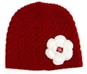 Ladies Red Flower Knit Hat Nebraska Cornhuskers, Nebraska  Ladies Hats, Huskers  Ladies Hats, Nebraska  Ladies Hats, Huskers  Ladies Hats, Nebraska Ladies Red Flower Knit Hat, Huskers Ladies Red Flower Knit Hat