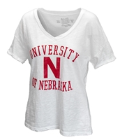 Ladies Skinny Husker N VNeck Slub Nebraska Cornhuskers, Nebraska  Ladies T-Shirts, Huskers  Ladies T-Shirts, Nebraska  Ladies, Huskers  Ladies, Nebraska Ladies Skinny Husker N Vneck Slub, Huskers Ladies Skinny Husker N Vneck Slub