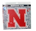 Large N Huskers Window Film Nebraska Cornhuskers, Nebraska Stickers Decals & Magnets, Huskers Stickers Decals & Magnets, Nebraska Vehicle, Huskers Vehicle, Nebraska  Tailgating, Huskers  Tailgating, Nebraska N Huskers Window Film, Huskers N Huskers Window Film