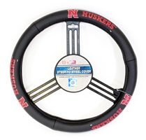 Leather Huskers Steering Wheel Cover Nebraska Cornhuskers, Nebraska Vehicle, Huskers Vehicle, Nebraska Leather Huskers Steering Wheel Cover, Huskers Leather Huskers Steering Wheel Cover