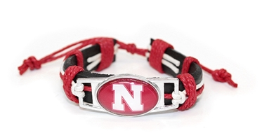 Leather N String Millennial Bracelet Nebraska Cornhuskers, Nebraska  Ladies Accessories, Huskers  Ladies Accessories, Nebraska  Jewelry & Hair, Huskers  Jewelry & Hair, Nebraska Nebraska Leather N String Millennial Bracelet, Huskers Nebraska Leather N String Millennial Bracelet