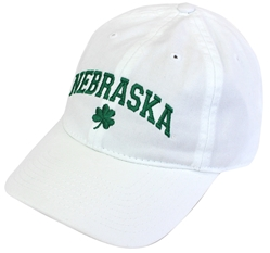 Lily White Nebraska St. Patty's Cap Nebraska Cornhuskers, Nebraska  Mens Hats, Huskers  Mens Hats, Nebraska  Mens Hats, Huskers  Mens Hats, Nebraska  Ladies Hats, Huskers  Ladies Hats, Nebraska  Ladies Hats, Huskers  Ladies Hats, Nebraska White Washed EZA 3 Leaf Clover Legacy, Huskers White Washed EZA 3 Leaf Clover Legacy
