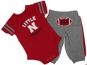 Little Husker Hut Hut Onesie Pant Set Nebraska Cornhuskers, Nebraska  Childrens, Huskers  Childrens, Nebraska  Infant, Huskers  Infant, Nebraska Little Husker Hut Hut Onesie Pant Set, Huskers Little Husker Hut Hut Onesie Pant Set