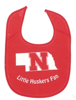 Little Huskers Fan Good Life Bib Nebraska Cornhuskers, Nebraska  Infant, Huskers  Infant, Nebraska  Kids, Huskers  Kids, Nebraska Little Huskers Fan Good Life Bib, Huskers Little Huskers Fan Good Life Bib