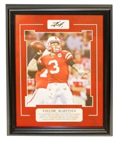 Martinez Framed Career Plaque Nebraska Cornhuskers, Nebraska  Former Players, Huskers  Former Players, Nebraska  Photos Prints & Posters, Huskers  Photos Prints & Posters, Nebraska  Prints & Posters, Huskers  Prints & Posters, Nebraska Martinez Autographed Career Print, Huskers Martinez Autographed Career Print