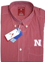 Mens Red and White Stripe L/S Button UP Nebraska Cornhuskers, Nebraska  Mens T-Shirts, Huskers  Mens T-Shirts, Nebraska  Long Sleeve, Huskers  Long Sleeve, Nebraska  Mens, Huskers  Mens, Nebraska Mens Red and White Stripe L/S Button UP, Huskers Mens Red and White Stripe L/S Button UP