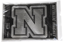 Metallic Iron N Magnet Nebraska Cornhuskers, Nebraska Stickers Decals & Magnets, Huskers Stickers Decals & Magnets, Nebraska Vehicle   , Huskers Vehicle   , Nebraska Metallic Iron N Magnet, Huskers Metallic Iron N Magnet