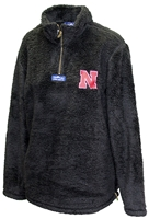 Midnight Huskers Ladies Quarter Zip Sherpa Nebraska Cornhuskers, Nebraska  Ladies Outerwear, Huskers  Ladies Outerwear, Nebraska  Ladies, Huskers  Ladies, Nebraska Midnight Huskers Ladies Quarter Zip Sherpa, Huskers Midnight Huskers Ladies Quarter Zip Sherpa