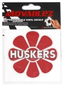 Moveable Husker Daisy Decal Nebraska Cornhuskers, Moveable Husker Daisy Decal