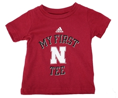 My First Nebraska Tee by Adidas Nebraska Cornhuskers, Nebraska  Infant, Huskers  Infant, Nebraska  Kids, Huskers  Kids, Nebraska My First Nebraska Tee by Adidas, Huskers My First Nebraska Tee by Adidas