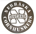 N Huskers Metal Wall Sign Nebraska Cornhuskers, N Huskers Metal Wall Sign