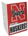 N Huskers Musical Card Nebraska Cornhuskers, Football Rug