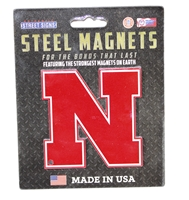N Logo Steel Magnet Nebraska Cornhuskers, Nebraska  Game Room & Big Red Room, Huskers  Game Room & Big Red Room, Nebraska Stickers Decals & Magnets, Huskers Stickers Decals & Magnets, Nebraska N Logo Steel Magnet 4 Inch AStS, Huskers N Logo Steel Magnet 4 Inch AStS