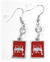NHuskers Square Earrings Nebraska Cornhuskers, Nebraska  Jewelry & Hair, Huskers  Jewelry & Hair, Nebraska  Ladies, Huskers  Ladies, Nebraska  Ladies Accessories, Huskers  Ladies Accessories, Nebraska Iron N Circle Earrings, Huskers Iron N Circle Earrings
