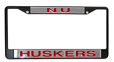 NU Huskers Metal License Frame Nebraska Cornhuskers, Nebraska Vehicle, Huskers Vehicle, Nebraska Chrome NU Huskers License Frame White Stockdale, Huskers Chrome NU Huskers License Frame White Stockdale