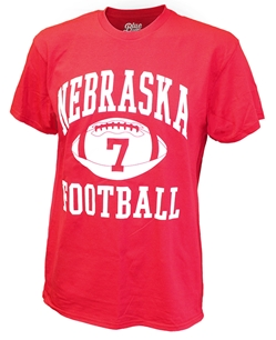 Nebraska 7 Frost Football Tee Nebraska Cornhuskers, Nebraska  Mens T-Shirts, Huskers  Mens T-Shirts, Nebraska  Mens, Huskers  Mens, Nebraska  Short Sleeve , Huskers  Short Sleeve , Nebraska Red Frost Football Tee Blu84, Huskers Red Frost Football Tee Blu84
