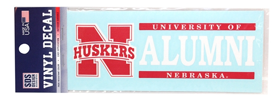 Nebraska Alum Horizontal Decal Nebraska Cornhuskers, Nebraska Vehicle, Huskers Vehicle, Nebraska Stickers Decals & Magnets, Huskers Stickers Decals & Magnets, Nebraska Nebraska Alum Horizontal Decal, Huskers Nebraska Alum Horizontal Decal