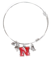 Nebraska Bangle Bracelet Nebraska Cornhuskers, Nebraska  Ladies Accessories, Huskers  Ladies Accessories, Nebraska  Ladies, Huskers  Ladies, Nebraska  Jewelry & Hair, Huskers  Jewelry & Hair, Nebraska Nebraska Bangle Bracelet , Huskers Nebraska Bangle Bracelet