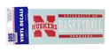 Nebraska Basketball Horizontal Decal Nebraska Cornhuskers, Nebraska Vehicle, Huskers Vehicle, Nebraska Stickers Decals & Magnets, Huskers Stickers Decals & Magnets, Nebraska  Basketball, Huskers  Basketball, Nebraska Nebraska Basketball Horizontal Decal, Huskers Nebraska Basketball Horizontal Decal