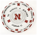 Nebraska Chip and Dip Tray Nebraska Cornhuskers, Nebraska  Kitchen & Glassware, Huskers  Kitchen & Glassware, Nebraska  Tailgating , Huskers  Tailgating , Nebraska Nebraska Chip and Dip Tray, Huskers Nebraska Chip and Dip Tray