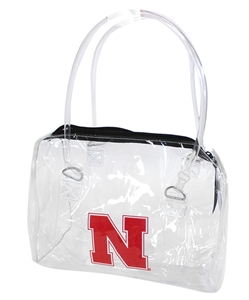 Nebraska Clear Bowler Handbag Nebraska Cornhuskers, Nebraska  Ladies Accessories, Huskers  Ladies Accessories, Nebraska  Bags Purses & Wallets , Huskers  Bags Purses & Wallets , Nebraska Nebraska Clear Bowler Handbag, Huskers Nebraska Clear Bowler Handbag