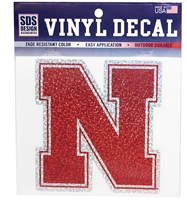Nebraska Confetti N Decal Nebraska Cornhuskers, Nebraska Vehicle, Huskers Vehicle, Nebraska Stickers Decals & Magnets, Huskers Stickers Decals & Magnets, Nebraska Nebraska Confetti Logo, Huskers Nebraska Confetti Logo