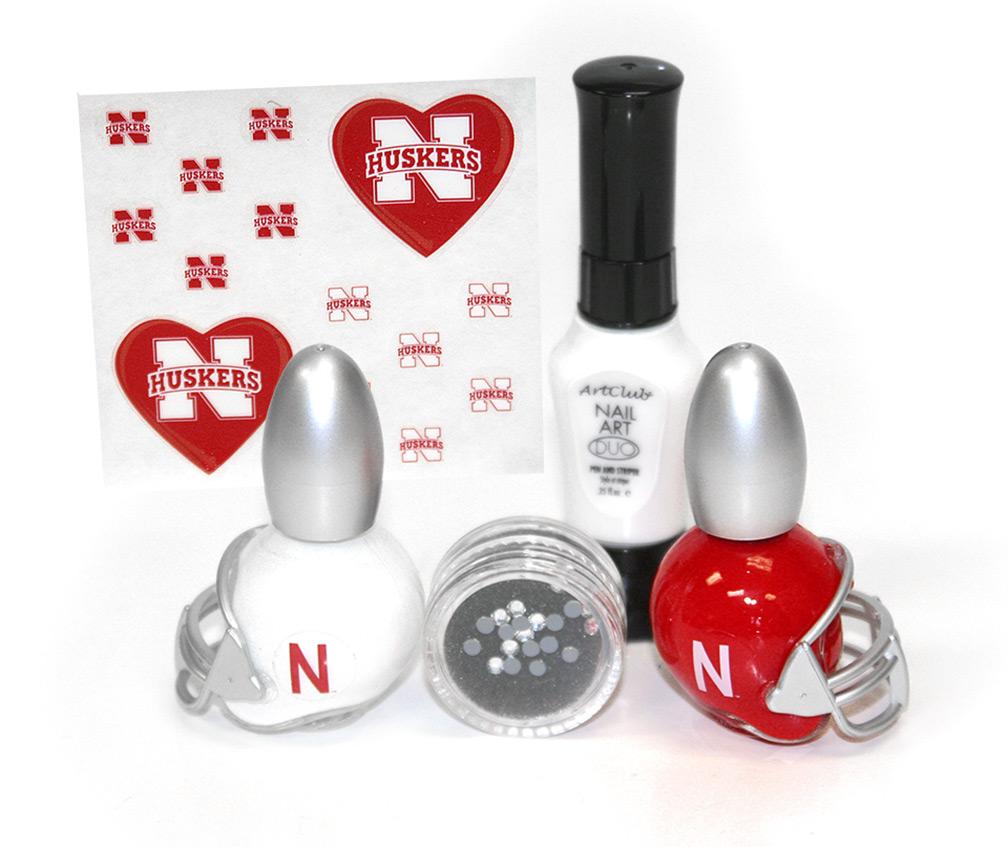 Nebraska Cornhuskers Nail Art Playbook Du 89879