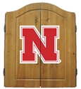 Nebraska Dart Board and Wall Case Set Nebraska Cornhuskers, Nebraska  Game Room & Big Red Room, Huskers  Game Room & Big Red Room, Nebraska Nebraska Dart Board and Wall Case Set, Huskers Nebraska Dart Board and Wall Case Set