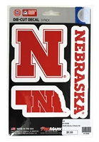 Nebraska Decal 3 Pack Nebraska Cornhuskers, Nebraska Vehicle, Huskers Vehicle, Nebraska Stickers Decals & Magnets, Huskers Stickers Decals & Magnets, Nebraska Nebraska Decal 3 Pack, Huskers Nebraska Decal 3 Pack