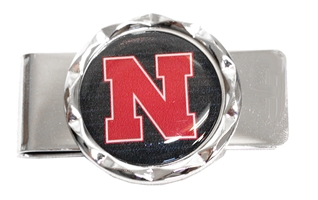 Nebraska Diamond Money Clip Nebraska Cornhuskers, Nebraska  Mens Accessories, Huskers  Mens Accessories, Nebraska  Mens, Huskers  Mens, Nebraska Round Diamond Money Clip Aminco, Huskers Round Diamond Money Clip Aminco