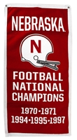 Nebraska Felt 5 Championships Football Banner Nebraska Cornhuskers, Nebraska  Flags & Windsocks, Huskers  Flags & Windsocks, Nebraska  Game Room & Big Red Room, Huskers  Game Room & Big Red Room, Nebraska  Tailgating, Huskers  Tailgating, Nebraska Nebraska Felt 5 Championships Football Banner, Huskers Nebraska Felt 5 Championships Football Banner