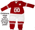 Childrens Nebraska Footy Football Suit Nebraska Cornhuskers, Nebraska  Infant , Huskers  Infant , Nebraska Nebraska Footy Football Suit, Huskers Nebraska Footy Football Suit