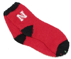 Nebraska Fuzzy N Sock Nebraska Cornhuskers, Nebraska  Mens Accessories, Huskers  Mens Accessories, Nebraska  Mens, Huskers  Mens, Nebraska  Footwear, Huskers  Footwear, Nebraska  Ladies, Huskers  Ladies, Nebraska  Ladies Accessories, Huskers  Ladies Accessories, Nebraska Red Solid Fuzzy N Logo Sock, Huskers Red Solid Fuzzy N Logo Sock