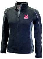 Nebraska Gals Crosslight Columbia Half Zip Nebraska Cornhuskers, Nebraska  Ladies Outerwear, Huskers  Ladies Outerwear, Nebraska  Ladies, Huskers  Ladies, Nebraska Black W Crosslight Columbia 12 Zip, Huskers Black W Crosslight Columbia 12 Zip
