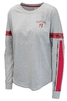 Nebraska Gals LS Oversized Mast Tee Nebraska Cornhuskers, Nebraska  Ladies T-Shirts, Huskers  Ladies T-Shirts, Nebraska  Ladies Tops, Huskers  Ladies Tops, Nebraska  Long Sleeve, Huskers  Long Sleeve, Nebraska  Ladies, Huskers  Ladies, Nebraska Gray W LS Mast Oversized Tee Col, Huskers Gray W LS Mast Oversized Tee Col