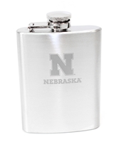 Nebraska Hip Flask Nebraska Cornhuskers, Nebraska  Kitchen & Glassware, Huskers  Kitchen & Glassware, Nebraska  Tailgating, Huskers  Tailgating, Nebraska Stainless Steel 4 Oz Hip Flask, Huskers Stainless Steel 4 Oz Hip Flask