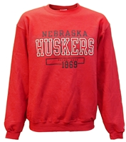 Nebraska Huskers 1869 Outline Crew Sweat Nebraska Cornhuskers, Nebraska  Mens Sweatshirts, Huskers  Mens Sweatshirts, Nebraska  Crew, Huskers  Crew, Nebraska  Mens, Huskers  Mens, Nebraska Red Champ Outline Crew Sweatshirt, Huskers Red Champ Outline Crew Sweatshirt
