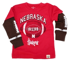 Nebraska Huskers Football Long Sleeve Tee Nebraska Cornhuskers, Nebraska  Infant, Huskers  Infant, Nebraska  Childrens, Huskers  Childrens, Nebraska  Kids, Huskers  Kids, Nebraska Nebraska Huskers Football Long Sleeve Tee, Huskers Nebraska Huskers Football Long Sleeve Tee