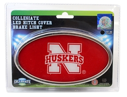 Nebraska LED Hitch Cover Brake Light Nebraska Cornhuskers, Nebraska Vehicle, Huskers Vehicle, Nebraska Nebraska LED Hitch Cover Brake Light, Huskers Nebraska LED Hitch Cover Brake Light