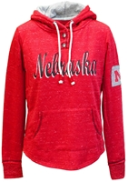 Nebraska Ladies Speckled Henley Nebraska Cornhuskers, Nebraska  Ladies Sweatshirts, Huskers  Ladies Sweatshirts, Nebraska  Ladies, Huskers  Ladies, Nebraska  Hoodies, Huskers  Hoodies, Nebraska Red W Speckled Henley Hoodie Col, Huskers Red W Speckled Henley Hoodie Col