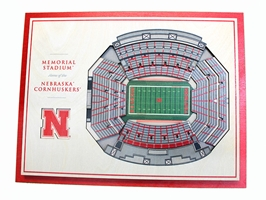 Nebraska Memorial Stadium 5 Layer Wall Art Nebraska Cornhuskers, Nebraska  Game Room & Big Red Room, Huskers  Game Room & Big Red Room, Nebraska  Framed Pieces, Huskers  Framed Pieces, Nebraska Nebraska Memorial Stadium 5 Layer Wall Art, Huskers Nebraska Memorial Stadium 5 Layer Wall Art