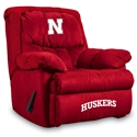 Nebraska Microfiber Home Team Recliner Nebraska Cornhuskers, Nebraska  Game Room & Big Red Room, Huskers  Game Room & Big Red Room, Nebraska  Office Den & Entry, Huskers  Office Den & Entry, Nebraska Nebraska Microfiber Home Team Recliner, Huskers Nebraska Microfiber Home Team Recliner