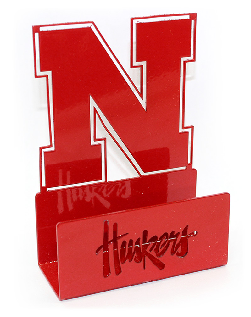 Nebraska N Business Card Holder