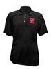 Nebraska N Heathered Striped Polo - AP-90010